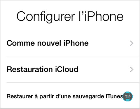 transferer donnees iphone
