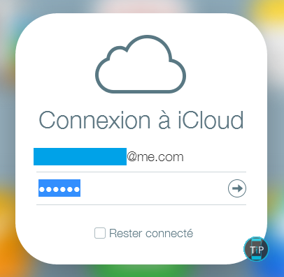 Connection iCloud
