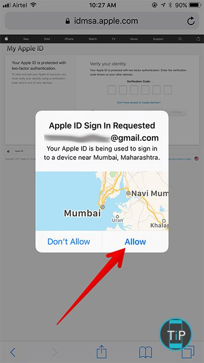 Tap-on-Allow-in-Apple-ID-Sign-In-Request